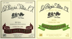 La Rioja Alta 890 904 Labels