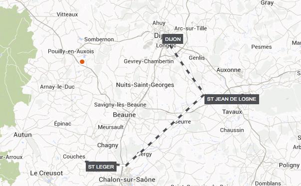 Route-Dijon-to-St-Leger-sur-Dheune