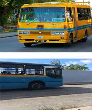 barbados--blue-yelloe-bus