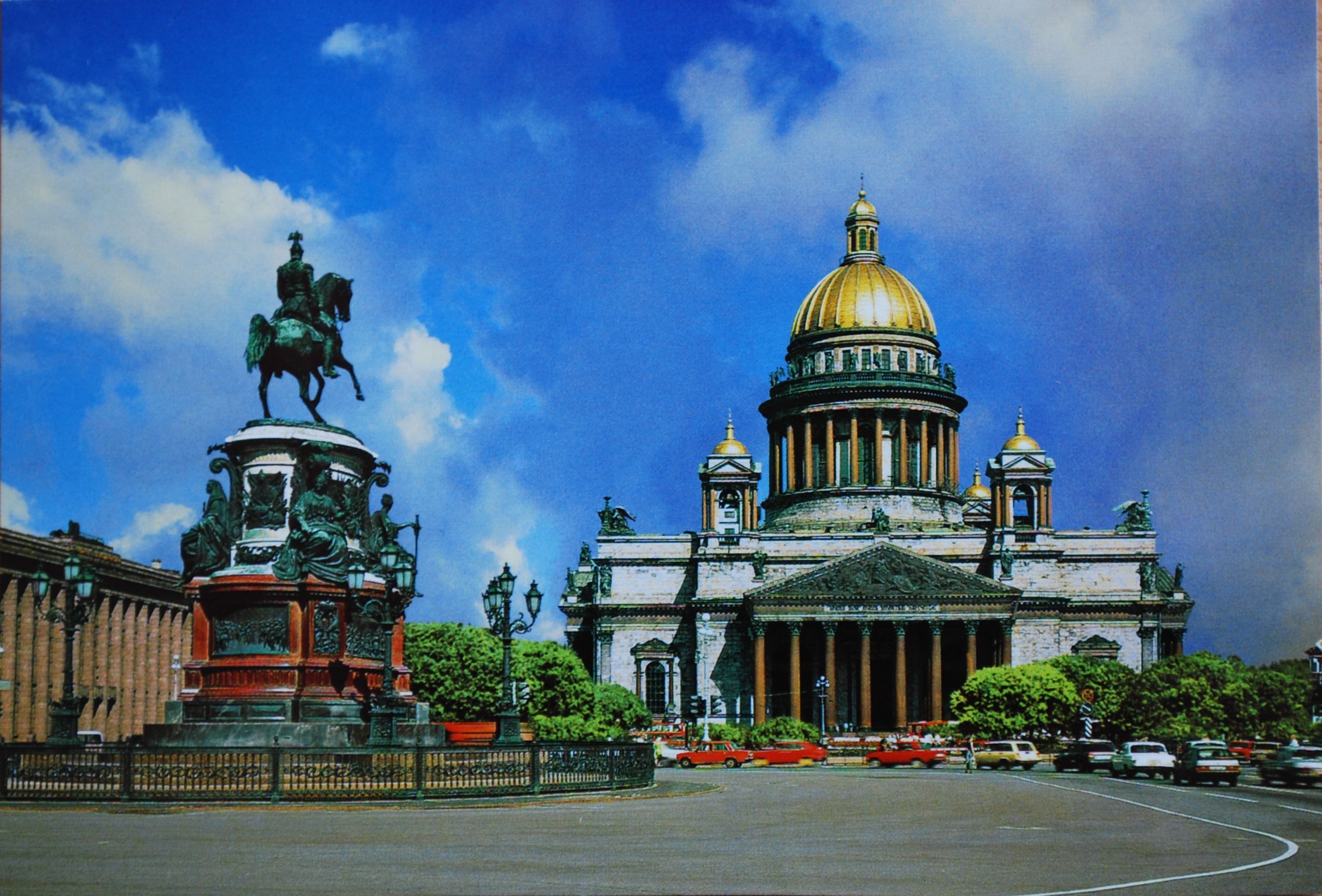 St. Isaacs Square - one of the main attractions of St. Petersburg