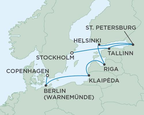 Regent Seven Seas Voyager Copenhagen to Stockholm 10 nights 500 x 400