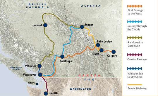 Rocky Mountaineer Explore Calgary Banff And Vancouver