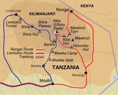 kilimanjaro-route-map