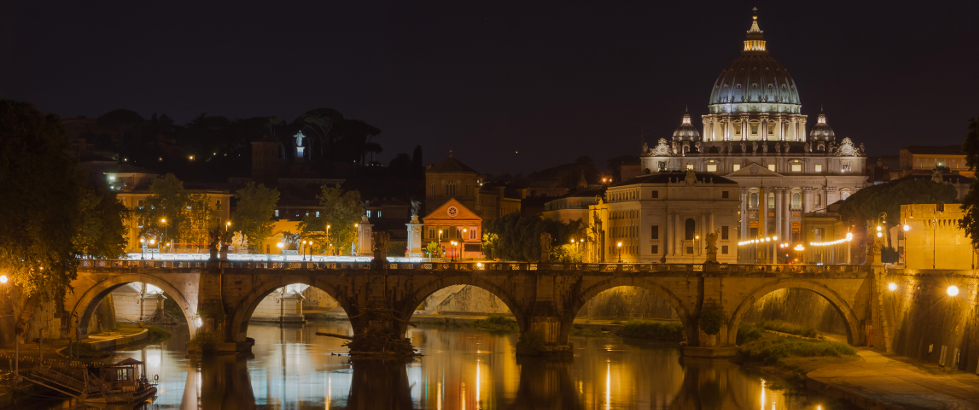 Saint-Peters-Basilica-Sant-Angelo-bridge-Rom