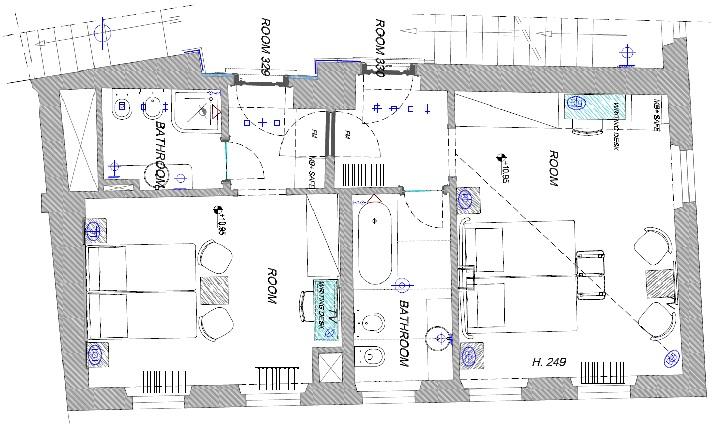 Brunelleschi Family Room Plan