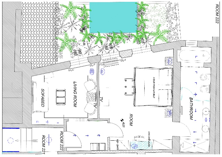 Brunelleschi Junior Suite Plan